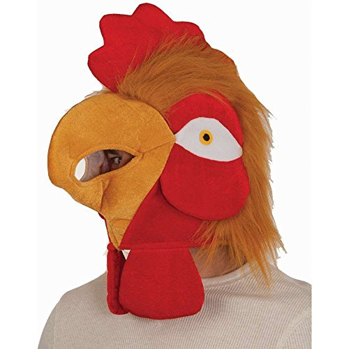 Plush Rooster Hat Headpiece (Adult Rooster Costume)