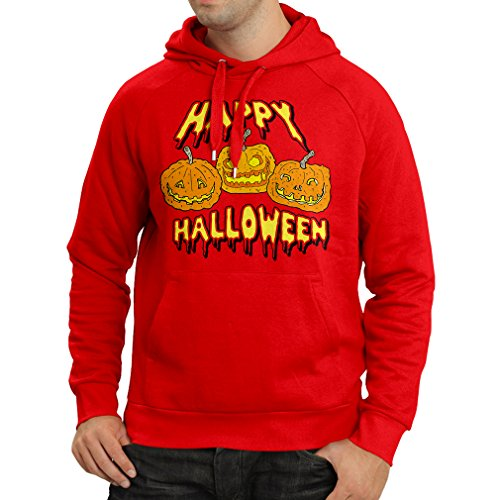 Hoodie Happy Halloween! Party Outfits & Costume - Gift Idea (X-Large Red Multi Color) -
