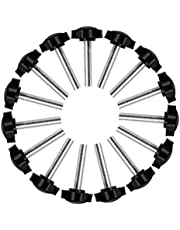 15 Pcs M8 x 40mm Thumb Screw Thread Replacement Star Hand Knob Tightening Screw Male Thread Clamping Screw