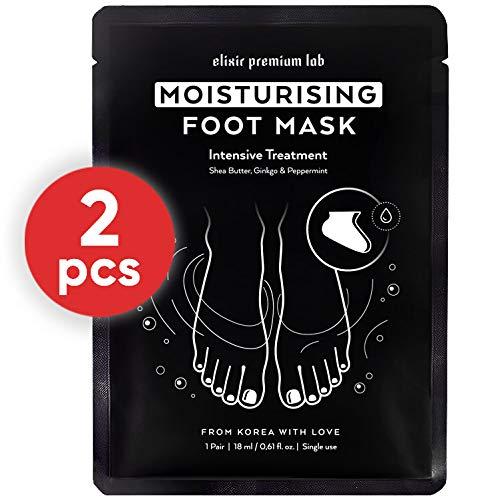 Moisturizing Foot Mask - Hydrating Socks for Women & Men - Spa Feet Treatment Booties - Best Korean Moisturizer for Dry Heel (2 Pack)