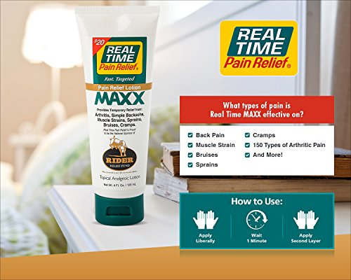 Real Time Pain Relief Stay Active Pack, Sports Cream, Daily Relief, MAXX Relief, 10 Pain Cream Travel Packs by Real Time Pain Relief (Image #4)