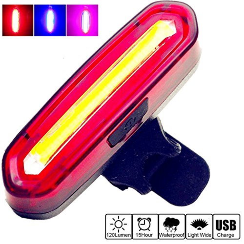 Ultra Bright Bike Light Mosuly USB Rechargeable Bicycle Tail Light. High Intensity Rear LED Accessories Works On Any Road Bikes and Backpacks. (Fixie Rollers)