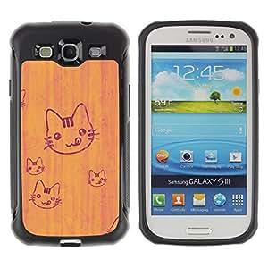 """Pulsar iFace Series Tpu silicona Carcasa Funda Case para Samsung Galaxy S3 III I9300 , Gato lindo lengua lamiendo Arte Dibujo simple"""""""