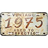 Metal License Plate Vintage Year 1975, Born/Made - Neonblond
