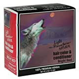 Light Mountain Natural Hair Color & Conditioner, Bright Red, 4 oz (113 g)