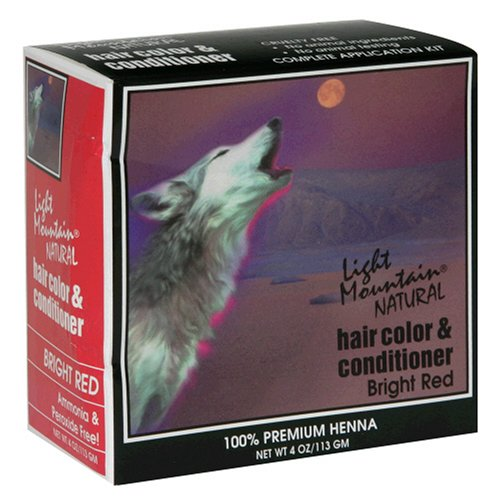 Light Mountain Natural Hair Color & Conditioner, Bright Red, 4 oz (113 g) (Pack of 3) by LIGHT MOUNTAIN