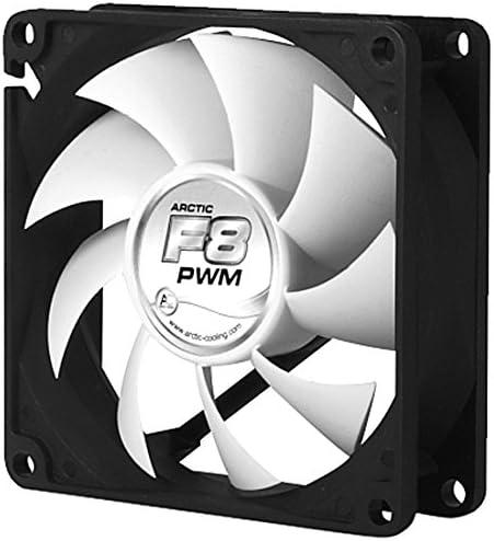 ARCTIC F8 PWM - Ventilador de PC (Carcasa del Ordenador, Ventilador, Negro, Color Blanco, De plástico, 96 g, 150 g): Amazon.es: Informática