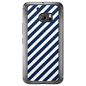 Loud Universe HTC M10 06 Transparent Edge Case - Navy Blue/White