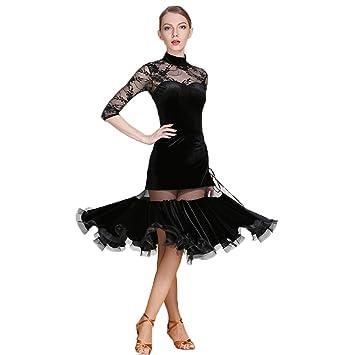 Mujer Baile Latino Vestido Bailando Unifom Cordón Manga Larga ...