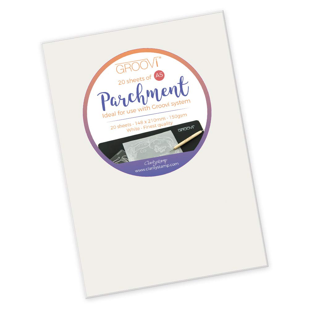 Groovi Parchment Paper A5 x 20 by Claritystamp