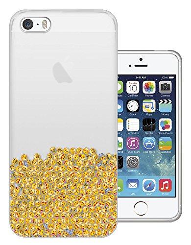c01410 - Emoji Collage Smiley Happy Laughter Sad Design iphone 4 4S Fashion Trend Silikon Hülle Schutzhülle Schutzcase Gel Rubber Silicone Hülle