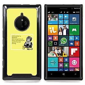 Eason Shop / Premium SLIM PC / Aliminium Casa Carcasa Funda Case Bandera Cover - Daydream Alimentos Dreaming dieta flaco Saludable - For Nokia Lumia 830