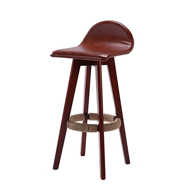 Amazon.com: AIDELAI Bar Stool High Stool Dining Chair- Solid Wood ...