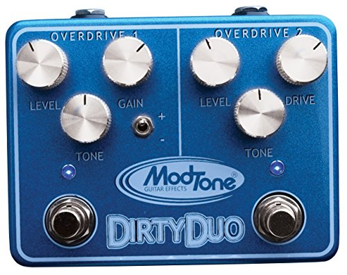 Dual Wah Pedal (ModTone Guitar Effects MT-DUO Dirty Duo Dual Overdrive and Distortion Guitar Effects Pedal)