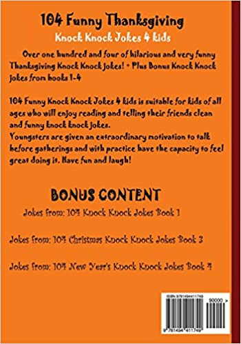 Amazoncom 104 Funny Thanksgiving Knock Knock Jokes 4 kids Best