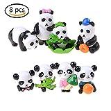 8 Pcs Miniature Cute Pandas Fairy Garden Figurine Bonsai Craft Ornament By DINGJIN For Sale