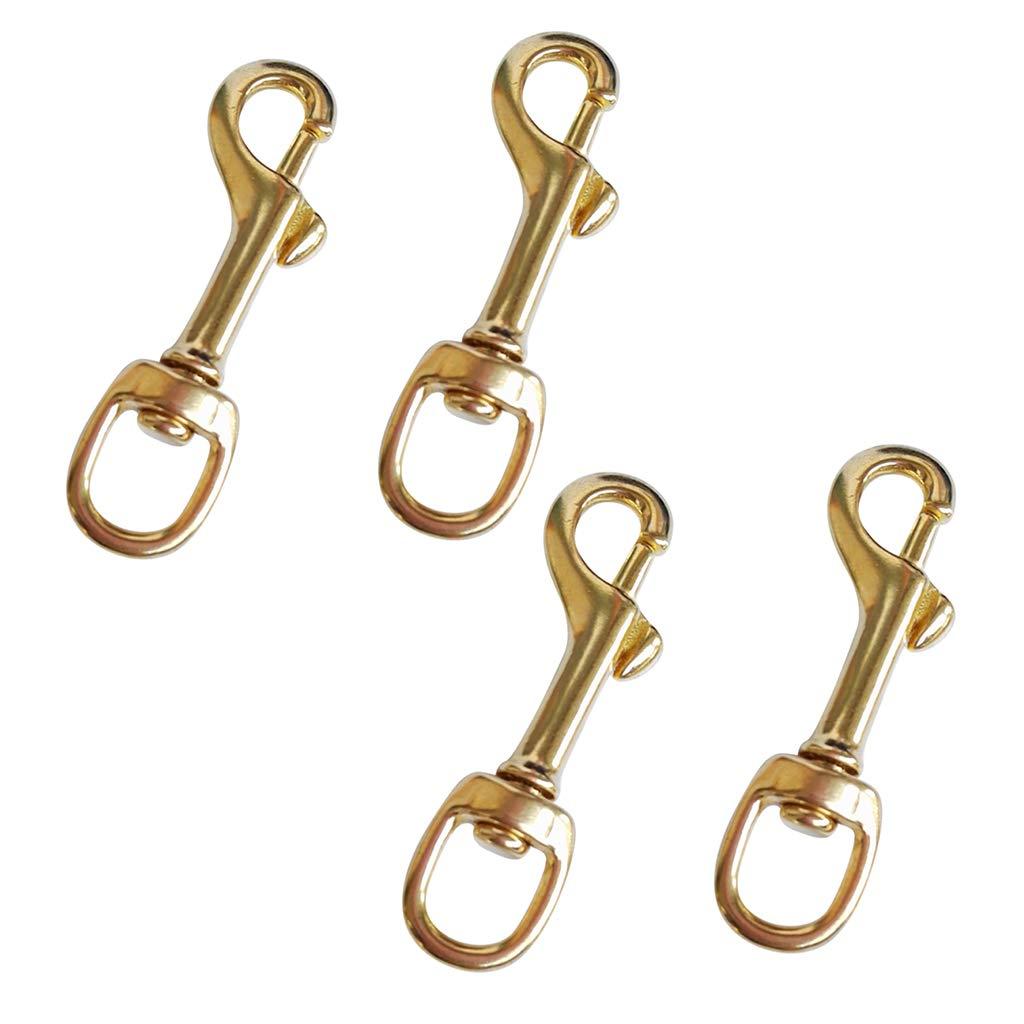2Pcs Pure Brass Swivel Eye Bolt Snap Hook Scuba Diving Accessories Dog Clip