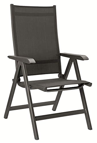 Kettler Basic Plus Folding Multiposition Chair – Gray Gray