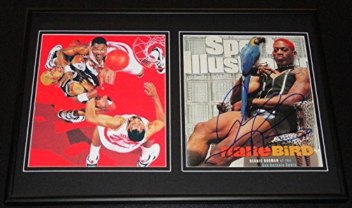 Dennis Rodman Signed Framed 1998 Sports Illustrated Cover & Photo Set Spurs - Autographed NBA Magazines - Nba Coin Set