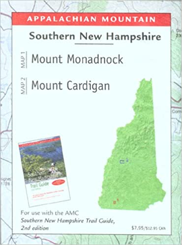 Southern New Hampshire Trail Map Mount Monadnock and Cardigan