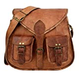 """leather bags 13"""" Indian Genuine Leather Women's Messenger Bag Shoulder Bag Size Small Brown"""