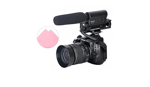 First2savvv SGC-598E02 Pro DV-cámara Estéreo-micrófono para la de ...