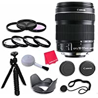 Canon EF-S 18–135mm f/3.5–5.6 IS STM Lens Bundle with 67mm 3 Piece Filter Kit for Canon EOS Rebel T4i, T5i, T6i, T6s, 70D, 7D Mark II Digital SLR Cameras - International Version (No Warranty)