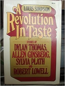 Book A Revolution in Taste by Louis Simpson (1978-12-31)