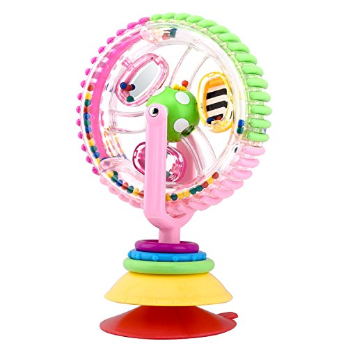 Zooawa Rotating Ferris Wheel Toy, Soft Silicone Spinning Dis