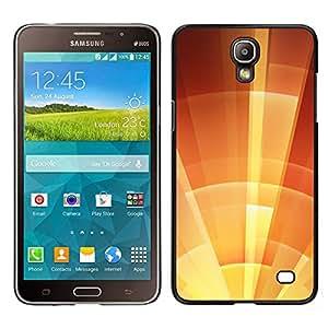 [Neutron-Star] Snap-on Series Teléfono Carcasa Funda Case Caso para Samsung Galaxy Mega 2 [Star Sun Shield Orange Summer Sunny]