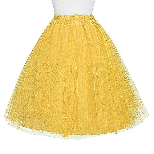 OKDRESS - Enaguas cortas - enaguas - para mujer amarillo