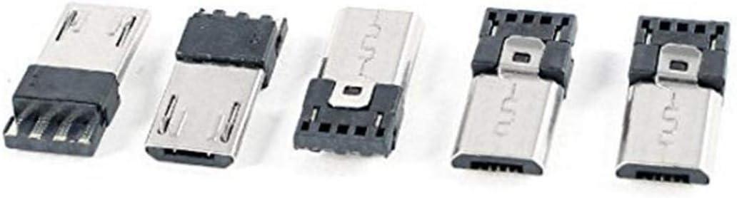 Presa Usb Usb Portatile Adattatore Micro Usb Tipo B 5pin Maschio Jack Connettore Saldare Pcb Zoccoli 5pcs
