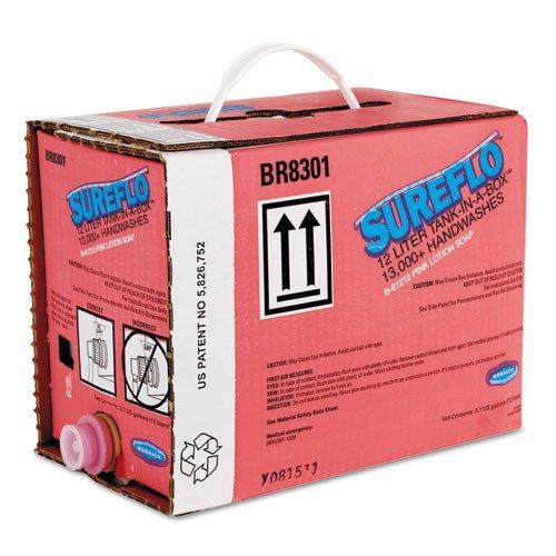 Bobrick 81212 SureFlo Pink Lotion Soap Cartridge, 12 L Tank Cartridge