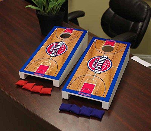 Victory Tailgate Detroit Pistons Desktop Cornhole Game Set Basketball Court Version ()