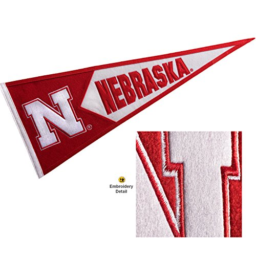 Nebraska Cornhuskers Wool Embroidered and Sewn Pennant