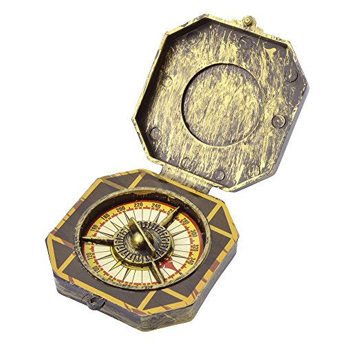 Price comparison product image Gold Pirate Treasure Compass