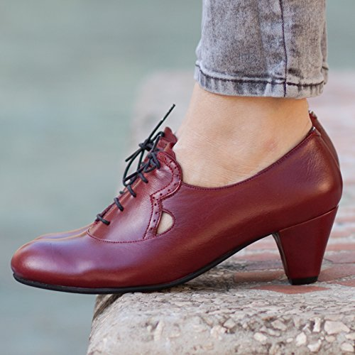 Bordeaux Handmade Leather Women's Pumps