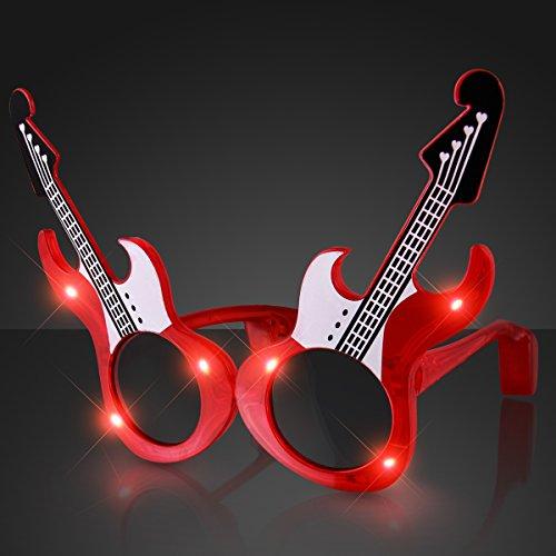 Rock Guitar Light Up Flashing LED Sunglasses -