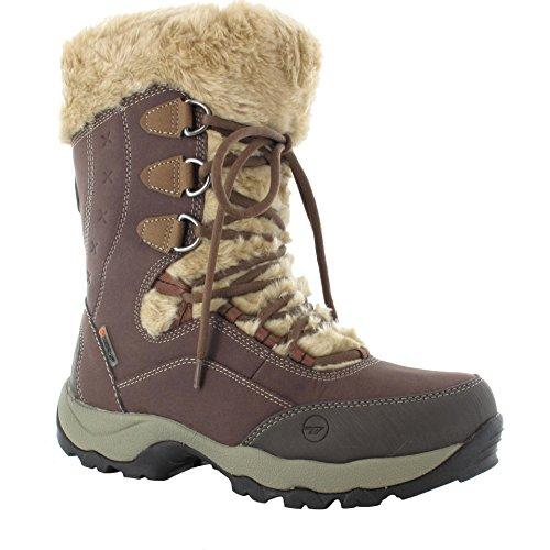 HI-TEC ST.ANTON 200 WP Womens Waterproof Winter Boots Chocolate/Taupe/Stone