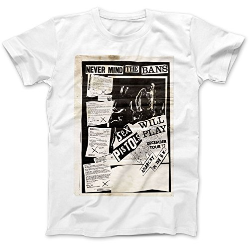 Never Mind The Bans Anarchy In The UK T-Shirt 100% Premium Cotton