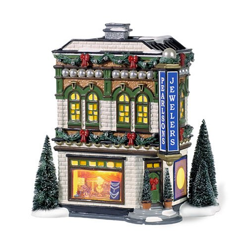 Department 56 Snow Village Pearlson's Jewelry Building 56.55386