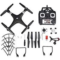 2.4GHz Mini RC Drone with 2MP HD Camera, Remote Phone Control Helicopter Drone(Black)