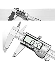 Digital Vernier Caliper - JUNING 150mm Stainless Steel Electronic Digital Caliper, Accurate and Fast Measurement, Easy Reading