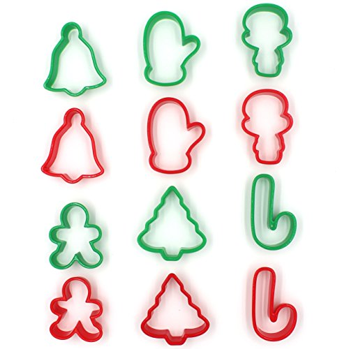 Zicome Plastic Mini Cookie Cutter, Set of - Cookie Christmas Plastic Cutters
