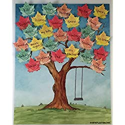 Thankful Tree Poster Pack - Thanksgiving Decoration - Thanksgiving Tree diy with Leaf Post it Notes - Thanksgiving Activity for Kids