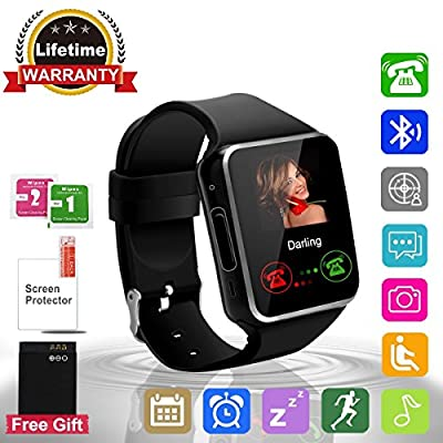 Smart Watch Bluetooth Smartwatch with Camera TouchScreen SIM Card Slot, Waterproof Phones Smart Wrist Watch Sports Fitness Compatible with iPhone Android Samsung Huawei for Kids Men Women