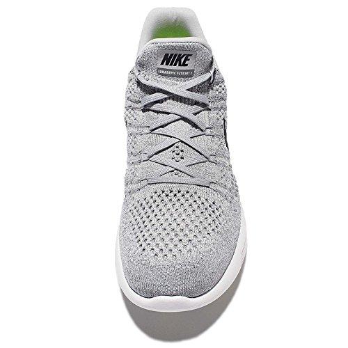 Nike Mens Lunarepic Low Flyknit 2 Scarpe Da Corsa Grigio Lupo / Nero-cool Grigio-puro Platino
