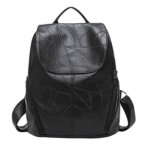 Sale Really Sheepskin Leather Backpack Fashion Designer Pinee Women's Bag Laptop School Bags for Daughter Wife Mother (Hurley Canvas Backpack)