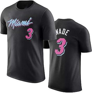 Miami Heat Dwyane wade Jersey Camiseta de Cuello Redondo para Hombre Baloncesto Deportivo Traje de entrenamiento Tee Tops: Amazon.es: Bricolaje y herramientas