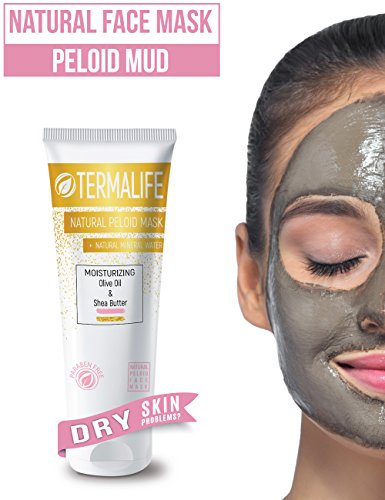 Termalife Peloid Face Mask | 5.1 oz Natural Facial Mask For Deep Pore Cleansing | Treatment of Acne, Best Facial Pore Minimizer, Reduce Wrinkles, Natural Cleaning and Nourishing Face (Dry Skins) (Facial Peeling Mask)